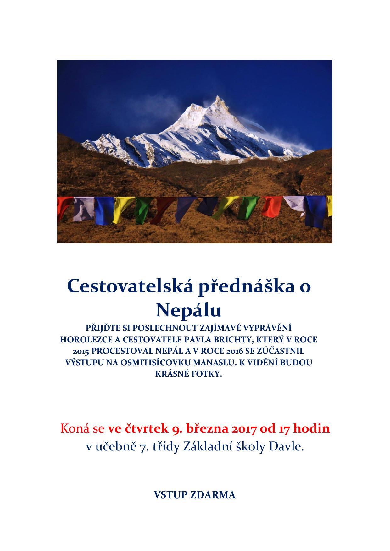 Cestovatelská přednáška Nepál