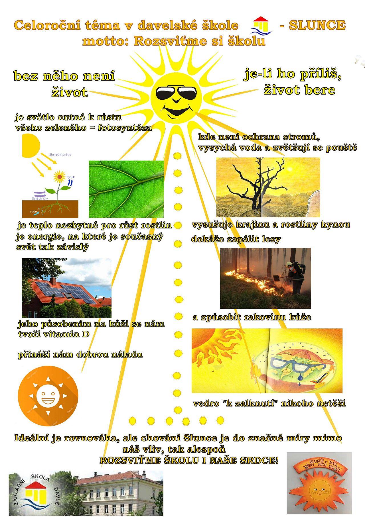 Celoroční téma v davelské škole - Slunce